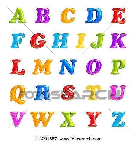 Stock Illustraties Alfabet Collection Alfabet 3d Lettertype