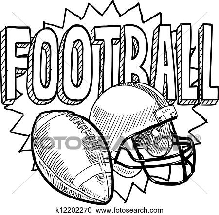 Clipart Of American Football Sketch K12202270 Search Clip Art