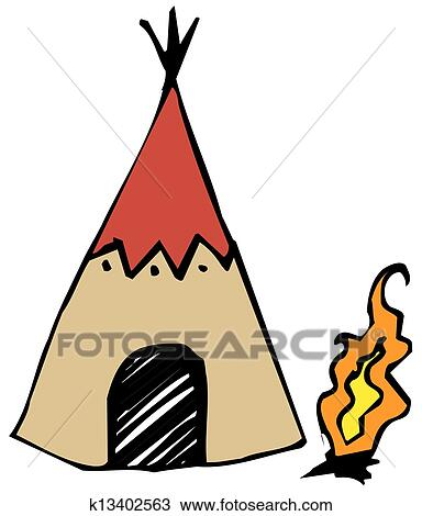 clipart of american indian wigwam k13402563 search clip art rh fotosearch com american indian clipart images american indian clipart free download