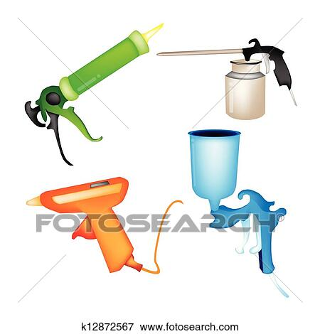 Clip Art Of An Illustration Collection Of Various Craft Tools