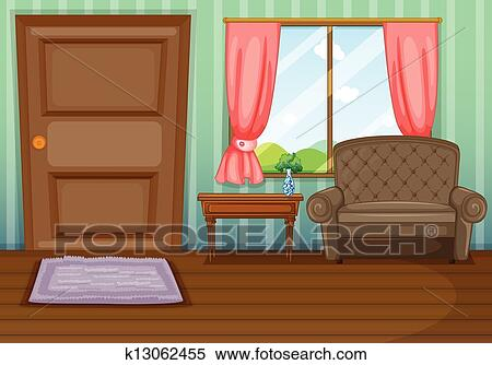 An inside view of the house Clipart   k13062455   Fotosearch