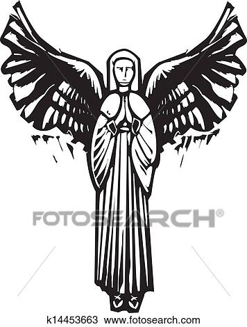 Angel With Wings Clipart K14453663 Fotosearch