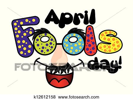 clip art of april fools day k12612158 search clipart illustration rh fotosearch com april fools clipart black and white april fool's day clipart