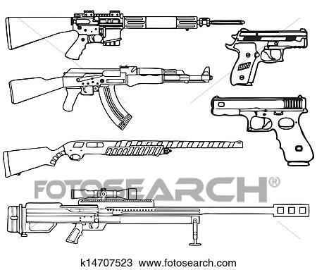Armas Fogo Desenho K14707523 Fotosearch