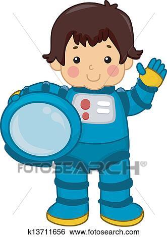 clip art of astronaut boy k13711656 search clipart illustration rh fotosearch com astronaut clipart images astronaut clipart images