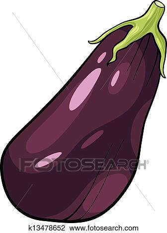 Aubergine Dessin clipart - aubergine, légume, dessin animé, illustration k13478652