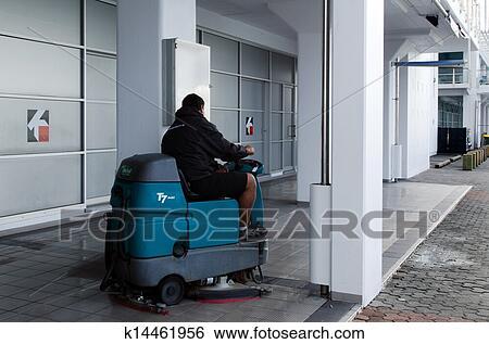 Stock Bilder Auto Boden Putzen Maschine K14461956 Suche