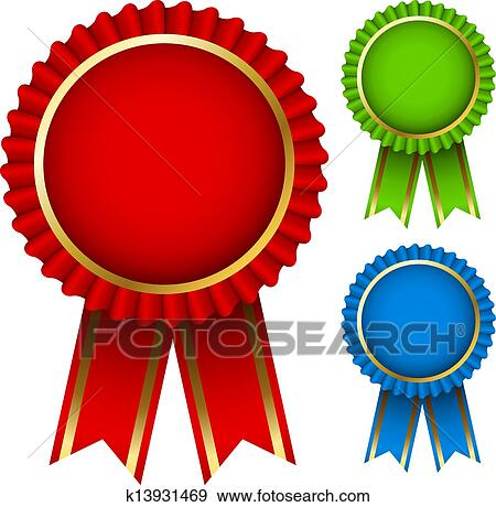 clip art of award ribbon rosettes k13931469 search clipart rh fotosearch com gold award ribbon clipart award ribbon clipart png