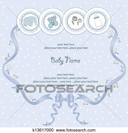 clipart of baby boy announcement card k13617000 search clip art
