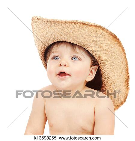 a55b8e1f01b8f Stock Photography - Baby boy wearing stetson . Fotosearch