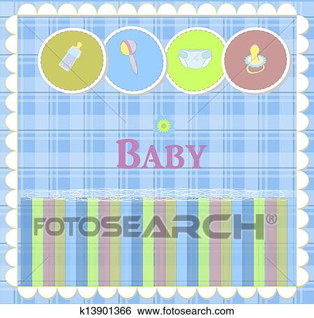 Clip Art Of Baby Card Designs For Birthday Card K13901366 Search