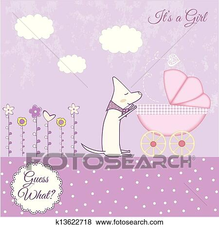 clip art of baby girl announcement k13622718 search clipart