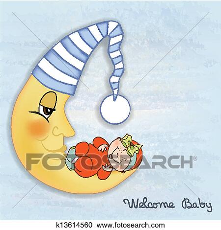 Clipart Of Baby Shower Card K13614560 Search Clip Art
