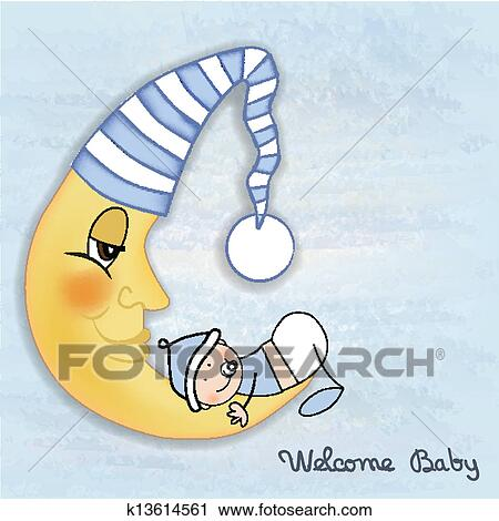 Clipart Of Baby Shower Card K13614561 Search Clip Art