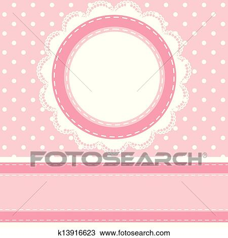 Clipart Of Baby Shower Card K13916623 Search Clip Art