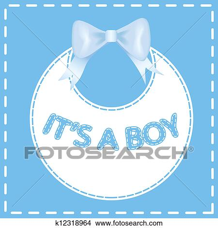 Clipart of baby shower invitation card k12318964 search clip art baby shower invitation card its a boy filmwisefo