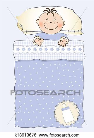 Clip art of baby shower invitation with a child sleeping in his crib baby shower invitation with a child sleeping in his crib filmwisefo