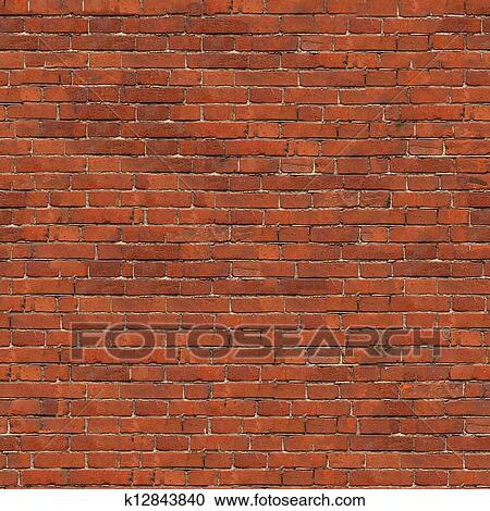 Dark Red Brick Wall Texture Grunge Seamless Tileable