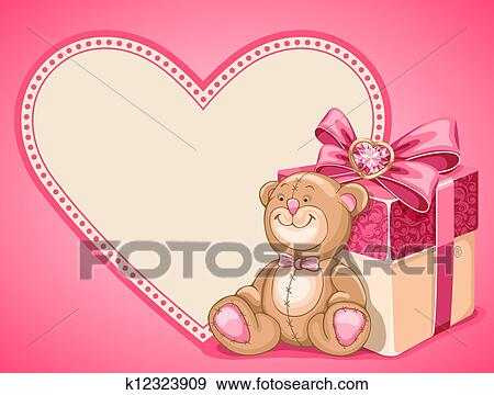 Clip Art Of Background On Valentines Day K12323909 Search Clipart