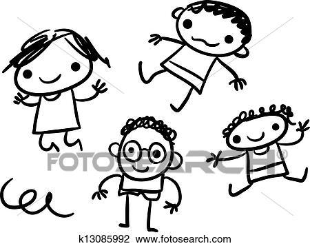 Clipart Bambini Scarabocchiare K13085992 Cerca Clipart