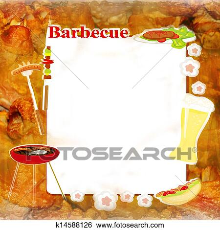 stock illustration of barbecue party invitation k14588126 search