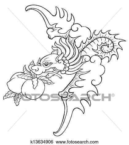 Bat painting of chinese style for coloring Stock ...