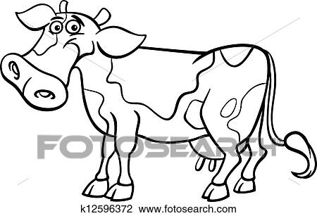 Clipart Bauernhof Kuh Karikatur Für Ausmalbilder K12596372