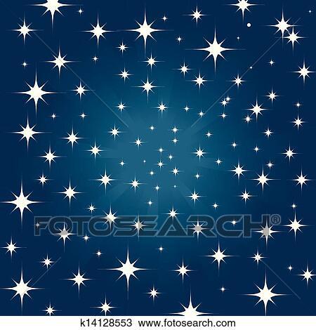 Beautiful night star sky background Clipart