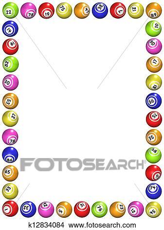 drawings of bingo boarder k12834084 search clip art illustrations