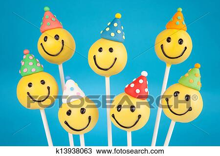 Outstanding Birthday Cake Pops Stock Image K13938063 Fotosearch Funny Birthday Cards Online Unhofree Goldxyz