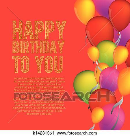 Birthday Design Clipart K14231351 Fotosearch