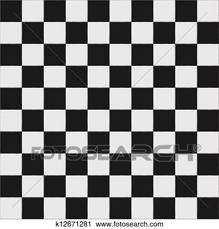 Stock Photography Of Black And White Checkered Floor K12671281
