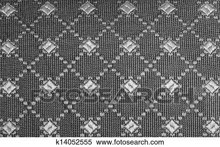 Black Graphic Fabric Background Stock
