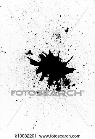 clipart of black paint splatter design k13082201 search clip art