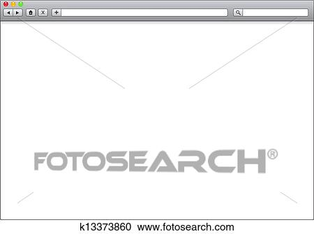 stock illustrations of blank window of internet browser template