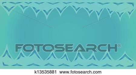 Blue Background Of The Cave With Spikes On The Top And Bottom Clipart K13535881 Fotosearch