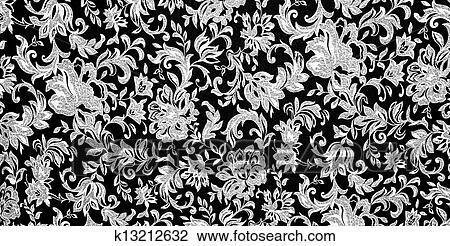 Stock Foto Blumen Schwarz Weiss Hintergrund K13212632 Suche