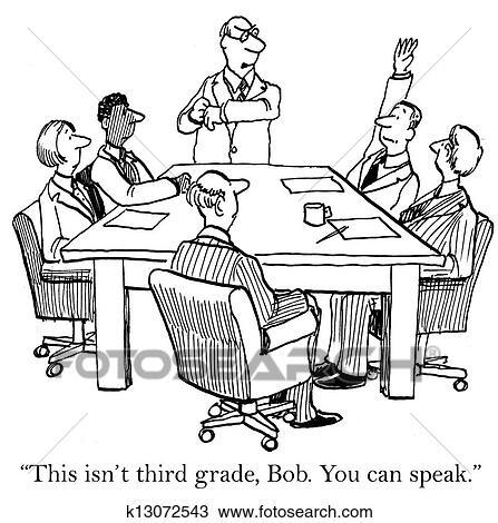 Boss Tells The Asssociate He Can Speak Drawing