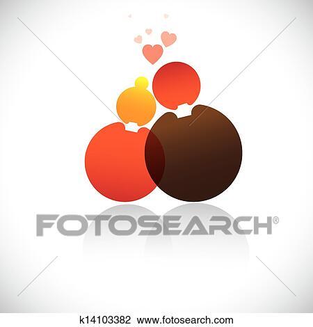 Boyfriend & girlfriend(romeo, juliet) icon(symbol)-vector ...