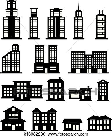 clip art of building black and white k13082286 search clipart rh fotosearch com clip art of buildings and tools clip art of buildings and tools