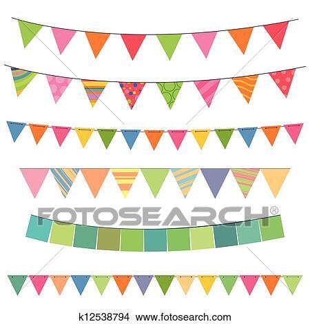 Clipart Buntes Girlanden K12538794 Suche Clip Art Illustration
