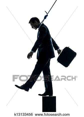 Stock Images Of Business Man Suicidal Hanging Silhouette K13133456