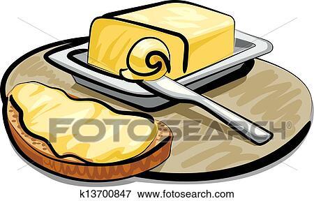 clip art of butter with sandwich k13700847 search clipart rh fotosearch com apple butter clip art peanut butter clipart