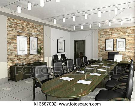 Banque de photo cabinet de les directeur meubles bureau