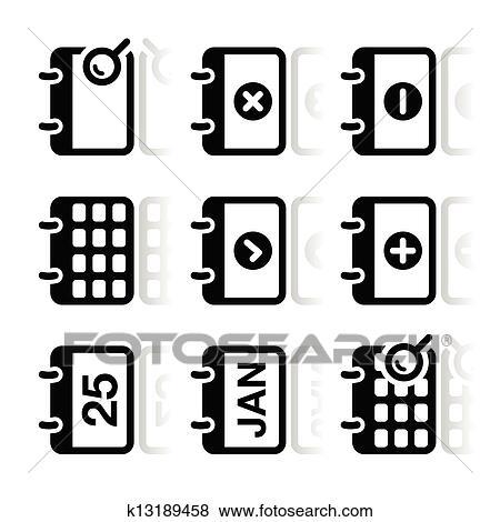 Calendar Date.Calendar Date Vector Icons Set Clip Art