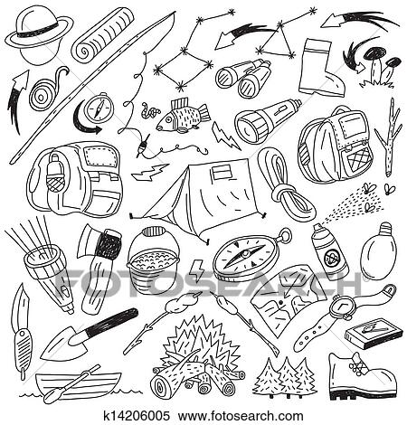 Clipart Of Camping