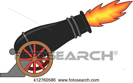 clip art of cannon k12760586 search clipart illustration posters rh fotosearch com clipart cannon cannonball clipart