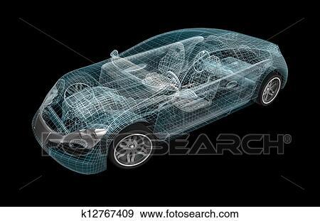 Car wireframe my own design