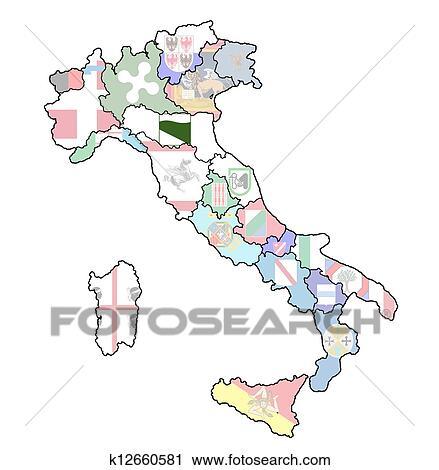 Carte Italie Emilia Romagna.Carte Italie A Emilia Romagna Region Clipart