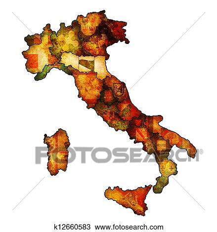 Carte Italie Emilia Romagna.Carte Italie A Emilia Romagna Region Dessin